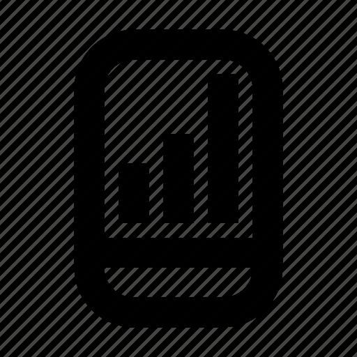 bar, cash, chart, exchequer, finance, money, smartphone icon