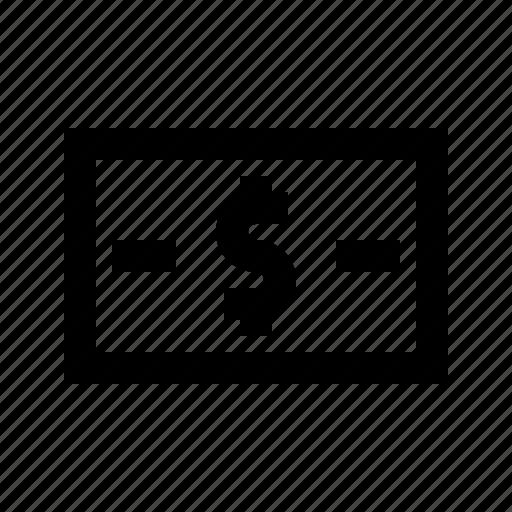 Bank, cash, dollar, exchequer, finance, money, note icon - Download on Iconfinder
