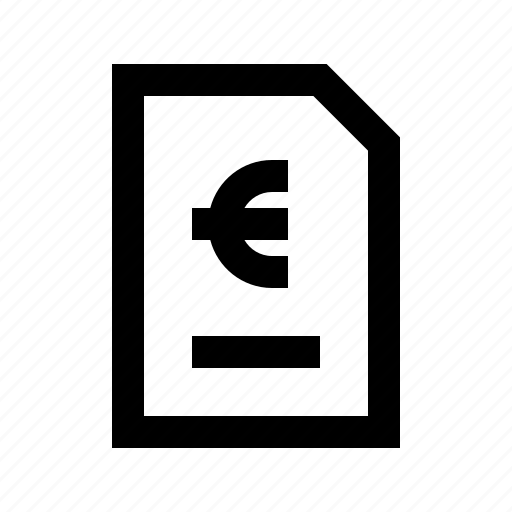 Bill, cash, document, euro, exchequer, finance, money icon - Download on Iconfinder
