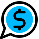 business, message, money, payment icon