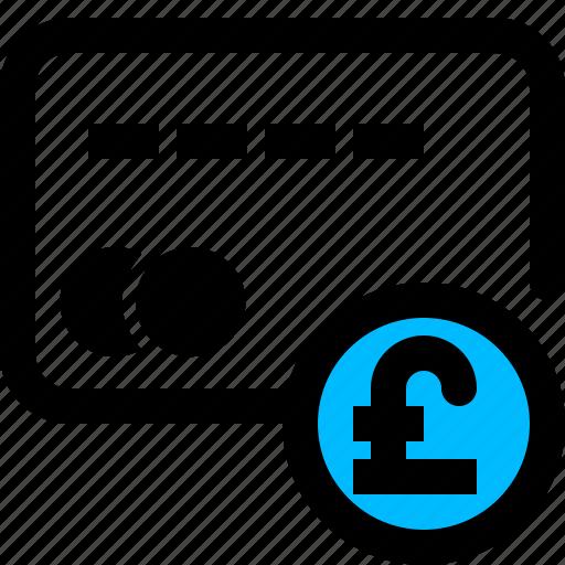 card, money, pay, pound icon