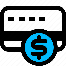 card, coin, credit, dollar icon