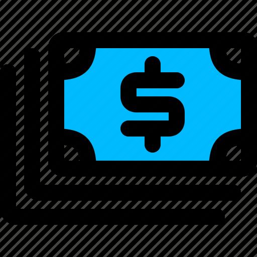 cash, dollars, money, stack icon