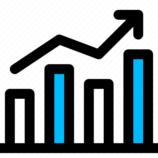 analysis, graph, increase, statistic icon