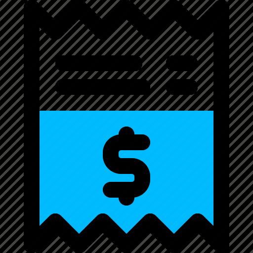 bill, money, pay, receipt icon