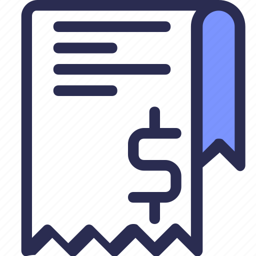 bill, business, finance, invoice, pay, payment, receipt icon
