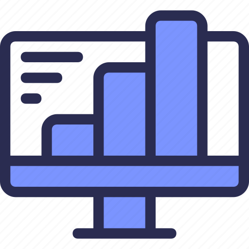 bar, business, chart, computer, diagram, finance, statistic icon