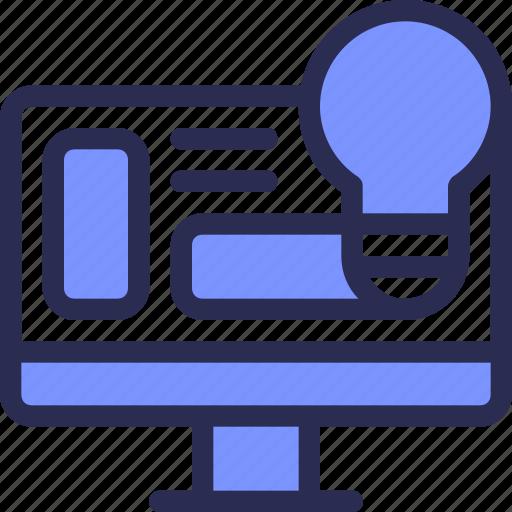 bulb, business, computer, finance, idea, lamp icon