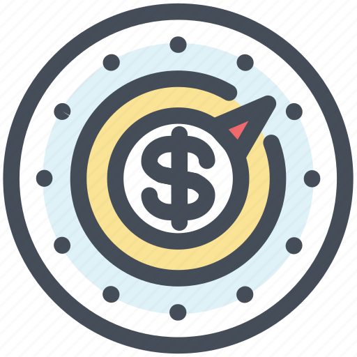 cash, compass, money, strategy icon