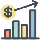 analytics, currency, dollar, graph, growth, money, statistics icon