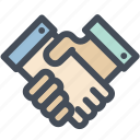agreement, collaboration, contract, hands, handshake, partners, team icon