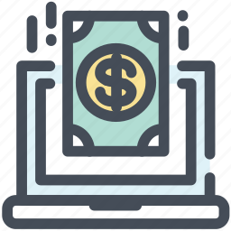buy, dollar, laptop, money, online, pay, purchase icon