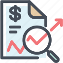 business, document, explore, magnifier, report, sales, statistics icon