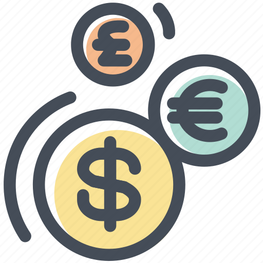 Cash, coins, currency, dollar, euro, exchange, yen icon - Download on Iconfinder