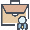 bag, briefcase, business, businessman, case, folio, portfolio icon