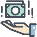 business, cash, deposit, dollar, hand, money, pay icon