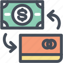 banking, cash, credit card, money, plastic money icon