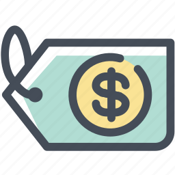 badge, dollar, price, retail, sale, tag, title icon