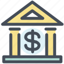 bank, finance, money icon