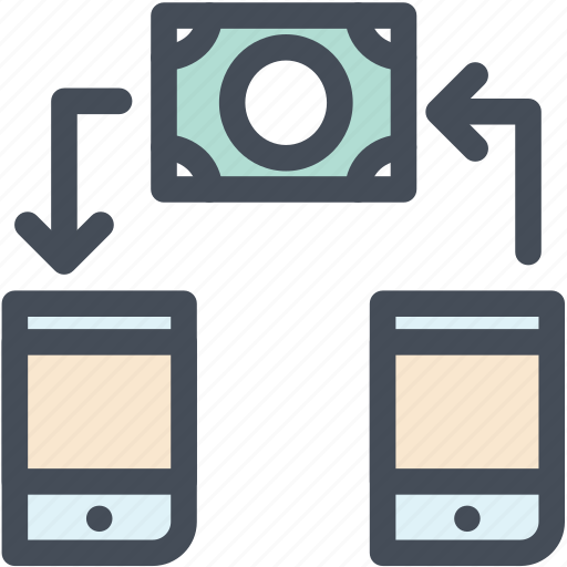 bill, mobile, money, payment, transfer icon