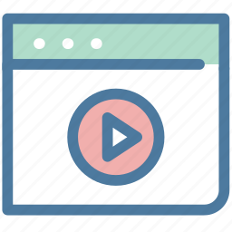 blowser, play, video, youtube icon