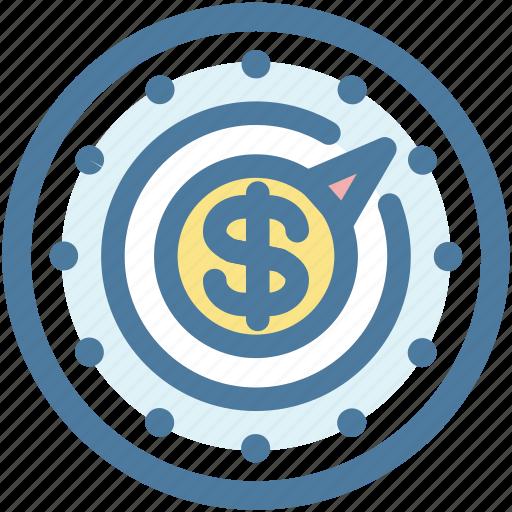 cash, compass, money, strategy icon
