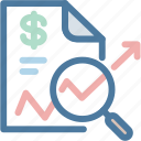business, document, explore, magnifier, report, sales, statistics