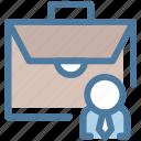 case, folio, briefcase, business, bag, businessman, portfolio