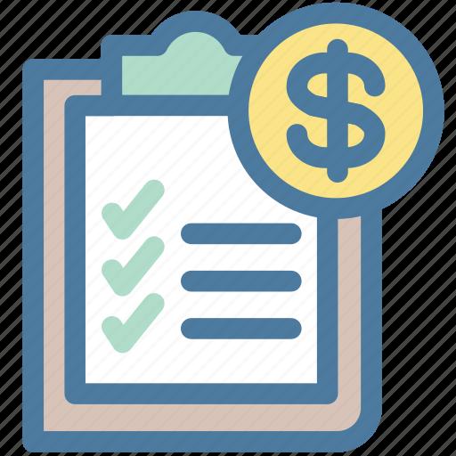 Clipboard, Document, Dollar, Invoice, Money, Report, Sales