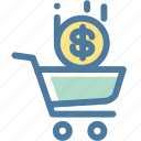 cart, dollar, ecommerce, money, shopping icon