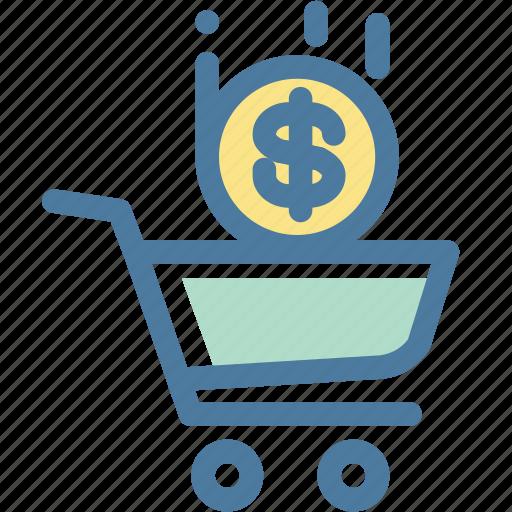 cart, dollar, ecommerce, money, shopping icon