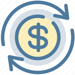 dollar, payment, processing, transfer icon