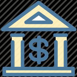 bank, finance, money icon