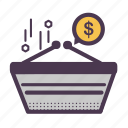 basket, buy, cart, finance, money, online shopping, shop icon