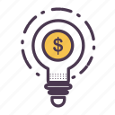 business, creative, finance, idea, marketing, money, think icon