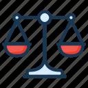 balance, compare, justice, law, scales icon