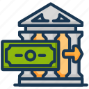 bank, deposit, income icon