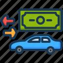 car, credit, loans, money icon
