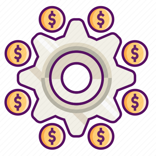 concept, dollar, earn, finance, money, setting, settlement icon