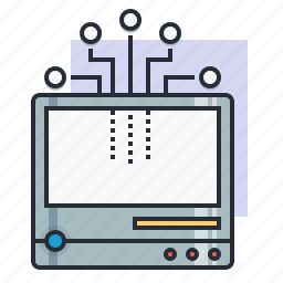 computer, concept, earn, electronic, finance, innovation, old icon