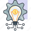 bulb, concept, earn, finance, idea, money, setting icon