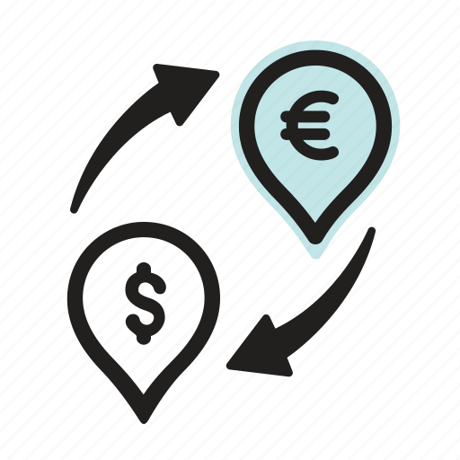 cash, currency, dollar, euro, exchange, financial, money icon