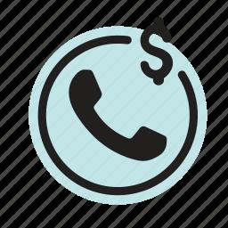 bank, care, communication, customer, finance, phone icon