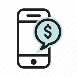 application, banking, finance, internet, smartphone, web icon