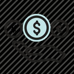 bank, cash, currency, dollar, finance, financial, loan icon