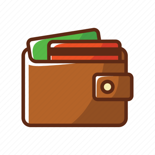 brown, card, credit card, finance, men, money, wallet icon