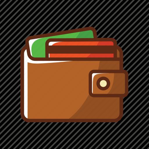 brown, card, credit card, finance, men, money, wallet icon