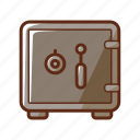 bank, finance, loan, money, safe, save icon