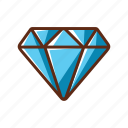 blue, diamond, finance, money, shine icon