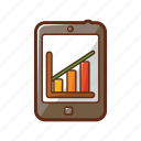 chart, finance, graph, presentation, ranking, smartphone, tablet icon